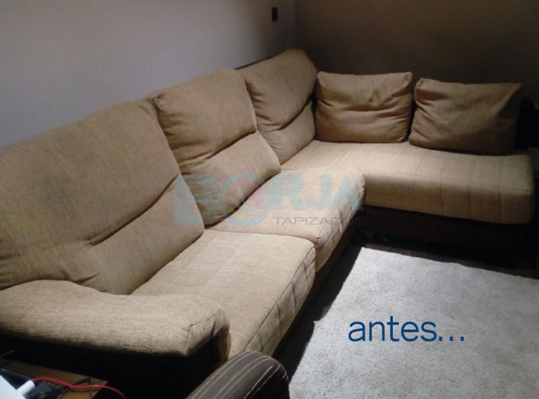 Tapizado de sofá con chaiselongue en Castellón de la Plana